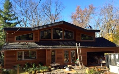 Midcentury roof raising – the exterior renovation of a recent project!
